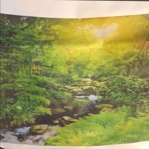 Nature with stream tapestry